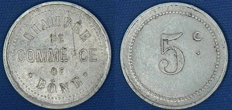 Bone (Algeria) 5 Centimes (No Date)