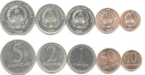 Angola's 1999 dated coins