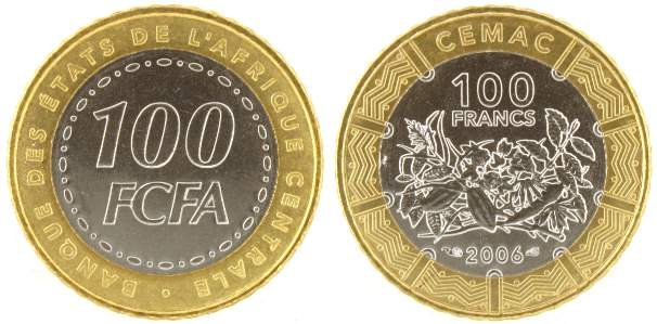 Central African States 100 FCFA 2006