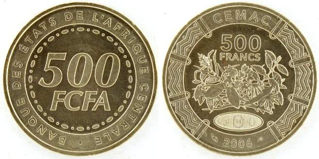 Central African States 500 FCFA 2006