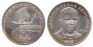 Senegal 50 Francs 1975