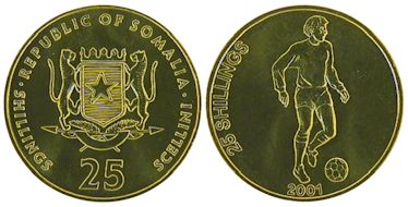 25 Shillings 2001 Football