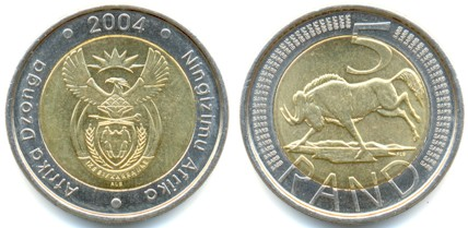 The new 5 Rand coin.