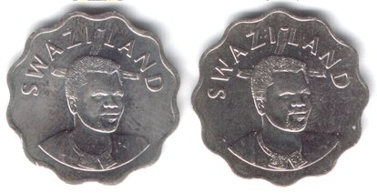 Smaller portrait - two obverse varieties for 20 Cents