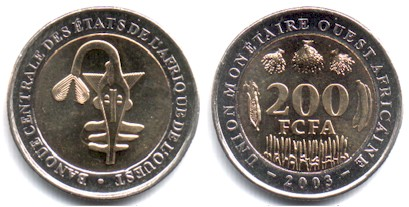 West African States 200 Francs 2003