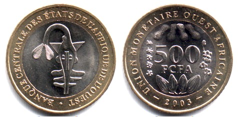West African States 500 Francs 2003
